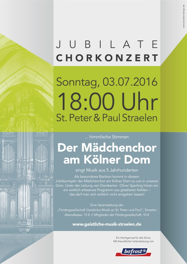 Chorkonzert am 03.07.2016