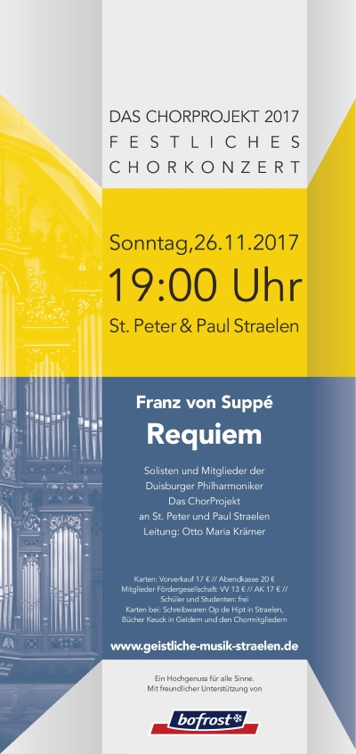 Chorkonzert am 26.11.2017